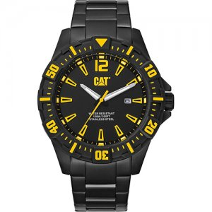 Ρολόι ανδρικό STEER Black/Yellow - Stainless steel IP black PX.161.12.137 CAT® WATCHES