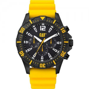 Ρολόι ανδρικό STEER multi Black - Yellow silicone PX.169.27.131 CAT® WATCHES