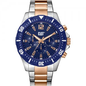 Ρολόι ανδρικό STEER multi Deep blue/Rose gold - Stainless steel PX.189.19.639 CAT® WATCHES
