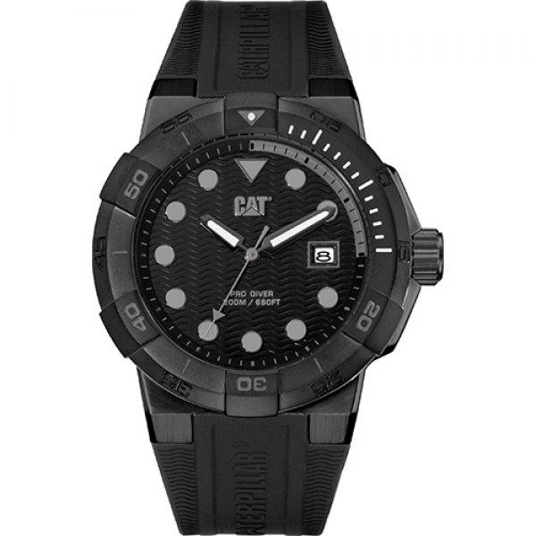 Ρολόι ανδρικό SHOCKDIVER Black - Black silicone SI.161.21.121 CAT® WATCHES | Ρολόγια Cat® Watches | karaiskostools.gr