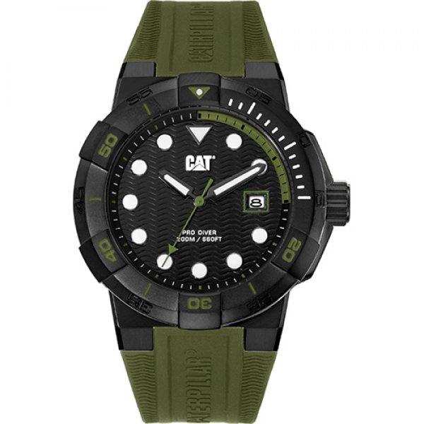 Ρολόι ανδρικό SHOCKDIVER Black/Military Green - Military Green silicone SI.161.23.123 CAT® WATCHES | Ρολόγια Cat® Watches | karaiskostools.gr