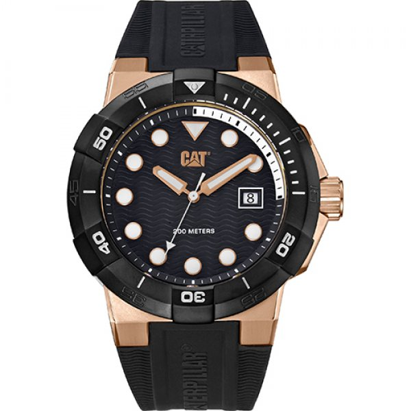 Ρολόι ανδρικό SHOCKDIVER Black/Rose Gold - Black silicone SI.191.21.129 CAT® WATCHES | Ρολόγια Cat® Watches | karaiskostools.gr