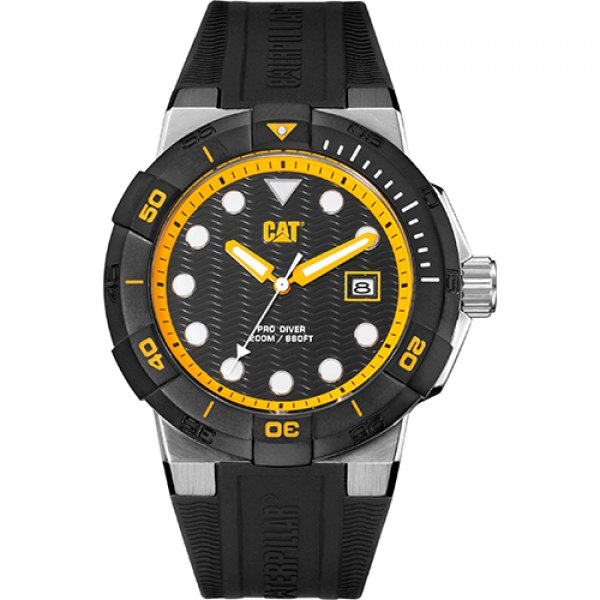 Ρολόι ανδρικό SHOCKDIVER Black/Yellow - Black silicone SI.141.21.127 CAT® WATCHES | Ρολόγια Cat® Watches | karaiskostools.gr
