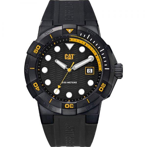 Ρολόι ανδρικό SHOCKDIVER Black/Yellow- Black silicone SI.161.21.127 CAT® WATCHES | Ρολόγια Cat® Watches | karaiskostools.gr