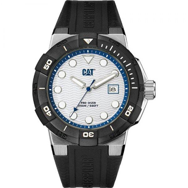 Ρολόι ανδρικό SHOCKDIVER White/Blue- Black silicone SI.141.21.222 CAT® WATCHES | Ρολόγια Cat® Watches | karaiskostools.gr