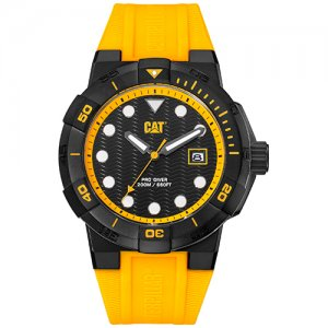 Ρολόι ανδρικό SHOCKDIVER Black/Yellow - Yellow silicone SI.161.27.127 CAT® WATCHES