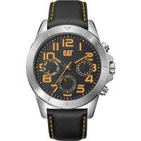 Ρολόι ανδρικό YT Black Yellow MULTI - Black leather YT.149.34.117 CAT® WATCHES