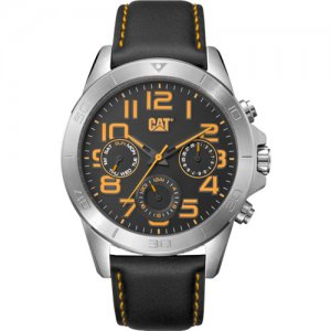 Ρολόι ανδρικό YT Black Yellow MULTI - Black leather YT.149.34.117 CAT® WATCHES