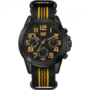 Ρολόι ανδρικό YT Black Yellow MULTI - Black nylon YT.169.61.117 CAT® WATCHES