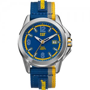 Ρολόι ανδρικό YU Twist Up Blue - Blue White Yellow Nylon Strap YU.141.66.632 CAT® WATCHES | Ρολόγια Cat® Watches | karaiskostools.gr