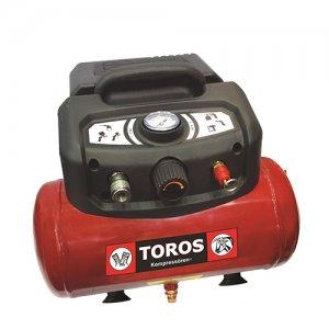 Αεροσυμπιεστής 6 Lt. / 1,5Hp λαδιού oil-free TOROS 602036 | Εργαλεία Αέρος - Αεροσυμπιεστές | karaiskostools.gr