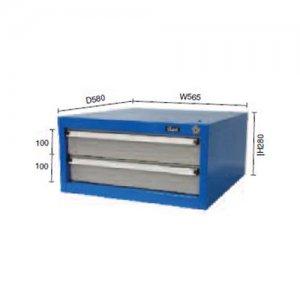 Συρταριέρα σταθερή με 2 συρτάρια για πάγκους εργασίας DR20 BULLE 66402 Πάγκοι & Ταμπλό