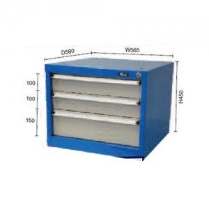 Συρταριέρα σταθερή με 3 συρτάρια για πάγκους εργασίας DR35-3 BULLE 66406 Πάγκοι & Ταμπλό