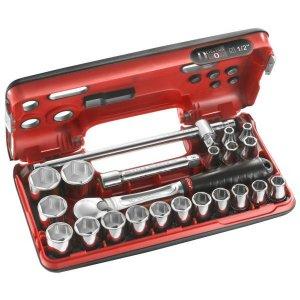 """Κασετίνα DBOX 1/2"""" με καστάνια κλειστού τύπου, 6γωνα καρυδάκια & εξαρτήματα SL.DBOX4 FACOM   Εργαλεία Χειρός - Κασετίνες Καρυδάκια   karaiskostools.gr"""