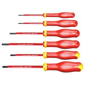 Σετ κατσαβίδια 6 τεμαχίων PROTWIST 1000Volt ATPVE.J6PB FACOM | Εργαλεία Χειρός - Κατσαβίδια & Μύτες | karaiskostools.gr