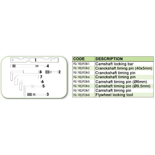 Ανταλλακτικό εργαλείο κασετίνας χρονισμού (FG 192/FO8) - FG 192/FO8-7 FASANO Tools