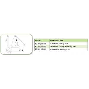 Ανταλλακτικό εργαλείο κασετίνας χρονισμού (FG 192/FT10) - FG 192/FT10-1 FASANO Tools
