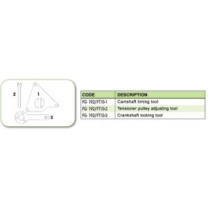 Ανταλλακτικό εργαλείο κασετίνας χρονισμού (FG 192/FT10) - FG 192/FT10-3 FASANO Tools
