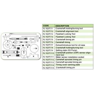 Ανταλλακτικό εργαλείο κασετίνας χρονισμού (FG 192/FT17) - FG 192/FT17-2 FASANO Tools