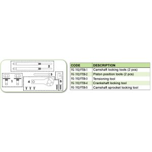 Ανταλλακτικό εργαλείο κασετίνας χρονισμού (FG 192/FT5B) - FG 192/FT5B-5 FASANO Tools