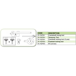 Ανταλλακτικό εργαλείο κασετίνας χρονισμού (FG 192/FT6) - FG 192/FT6-2 FASANO Tools