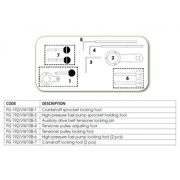 Ανταλλακτικό εργαλείο κασετίνας χρονισμού (FG 192/VW10B) - FG 192/VW10B-5 FASANO Tools