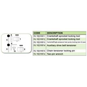 Ανταλλακτικό εργαλείο κασετίνας χρονισμού (FG 192/VW7) - FG 192/VW7-1 FASANO Tools