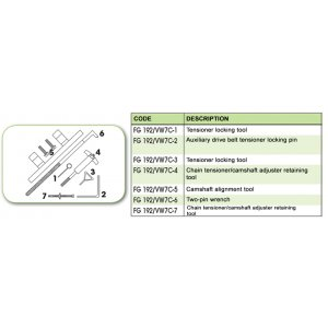 Ανταλλακτικό εργαλείο κασετίνας χρονισμού (FG 192/VW7C) - FG 192/VW7C-2 FASANO Tools