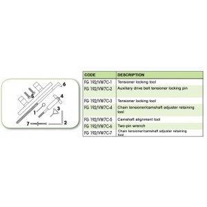 Ανταλλακτικό εργαλείο κασετίνας χρονισμού (FG 192/VW7C) - FG 192/VW7C-7 FASANO Tools
