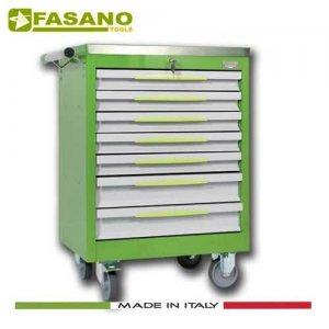 Εργαλειοφόρος 7 συρταριών με ανοξείδωτη επιφάνεια πράσινος FG 102V/7A FASANO Tools Εργαλειοφόροι