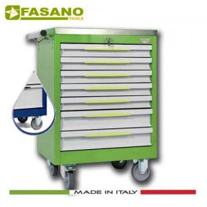 Εργαλειοφόρος 7 συρταριών με ανοξείδωτη επιφάνεια μπλέ FG 102B/7A FASANO Tools Εργαλειοφόροι