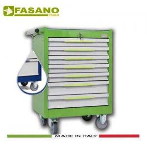 Εργαλειοφόρος 7 συρταριών με αντιολισθητική επιφάνεια μπλέ FG 102B/7G FASANO Tools Εργαλειοφόροι