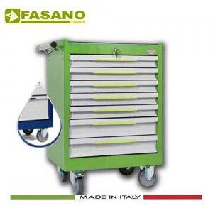 Εργαλειοφόρος 7 συρταριών με ξύλινη επιφάνεια μπλέ FG 102B/7L FASANO Tools Εργαλειοφόροι