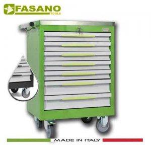 Εργαλειοφόρος 7 συρταριών με ανοξείδωτη επιφάνεια σκούρο γκρί FG 102D/7A FASANO Tools Εργαλειοφόροι