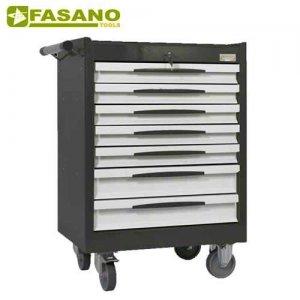 Εργαλειοφόρος 7 συρταριών με αντιολισθητική επιφάνεια σκούρο γκρί FG 102D/7G FASANO Tools Εργαλειοφόροι