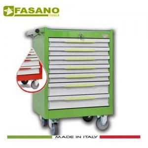 Εργαλειοφόρος 7 συρταριών με αντιολισθητική επιφάνεια κόκκινος 102R/7G FASANO Tools Εργαλειοφόροι