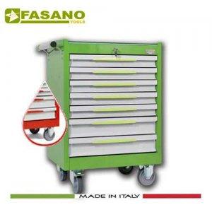 Εργαλειοφόρος 7 συρταριών με ξύλινη επιφάνεια κόκκινος FG 102R/7L FASANO Tools Εργαλειοφόροι