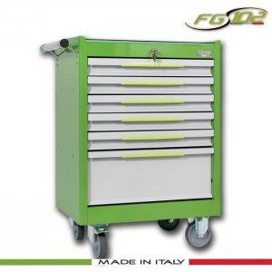 Εργαλειοφόρος 6 συρταριών με αντιολισθητική επιφάνεια πράσινος FG 102V/6G FASANO Tools |Εργαλειοφόροι τροχήλατοι| karaiskostools.gr