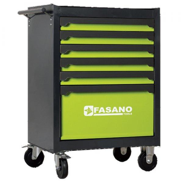 Εργαλειοφόρος τροχήλατος FG 103 6 συρτάριων & συλλογή 131 εργαλείων σε θήκες FG 103V/AS131 FASANO Tools | Εργαλεία Συνεργείου - Εργαλειοφόροι - Συλλογές Εργαλείων | karaiskostools.gr