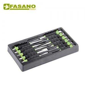 Θήκη με 11 επενδεδυμένους ζουμπάδες FG 128/S11 FASANO Tools Συλλογές σε θήκες