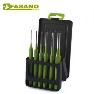Σετ κυλινδρικοί ζουμπάδες 6 τεμαχίων FG 128C/S6 FASANO Tools Ζουμπάδες - Κοπίδια