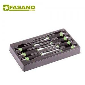 Θήκη με 7 επενδεδυμένους ζουμπάδες FG 128CA/S7 FASANO Tools Συλλογές σε θήκες