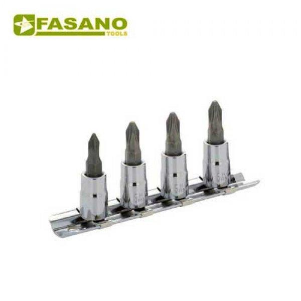 """Σετ καρυδάκια σταυρού 1/4"""" σε ράγα PH1-PH4 4 τεμαχίων FG 147PH/S4 FASANO Tools Κασετίνες Καρυδάκια"""