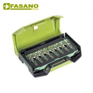 """Κασετίνα καρυδάκια torx 3/8"""" TX9-TX40 8 τεμαχίων FG 149TX/S8B FASANO Tools Κασετίνες Καρυδάκια"""