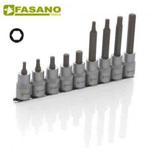 """Σετ καρυδάκια άλλεν 1/2"""" σε ράγα 4-10mm 9 τεμαχίων FG 150H/S9 FASANO Tools Κασετίνες Καρυδάκια"""