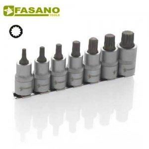 """Σετ καρυδάκια XZN 1/2"""" σε ράγα 5-16 7 τεμαχίων FG 150M/S7 FASANO Tools Κασετίνες Καρυδάκια"""
