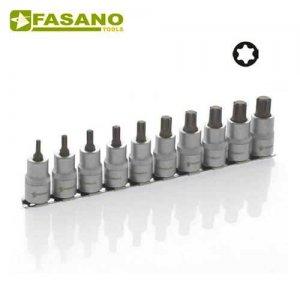 """Σετ καρυδάκια torx 1/2"""" σε ράγα TX10-TX60 10 τεμαχίων FG 150TX/S10 FASANO Tools Κασετίνες Καρυδάκια"""