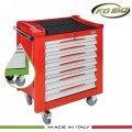 Εργαλειοφόρος τροχήλατος FG 150 (πράσινος) 7 συρτάριων & συλλογή 185 εργαλείων σε θήκες FG 150V/AS185 FASANO Tools | Εργαλεία Συνεργείου - Εργαλειοφόροι - Συλλογές Εργαλείων | karaiskostools.gr