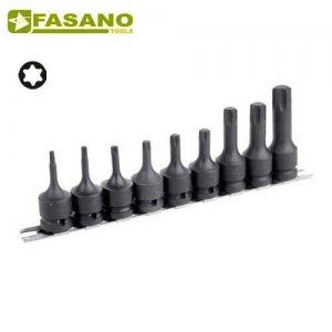 """Σετ καρυδάκια torx κρούσης 1/2"""" σε ράγα TX20-TX70 9 τεμαχίων FG 152/RTXS9 FASANO Tools Κασετίνες Καρυδάκια"""