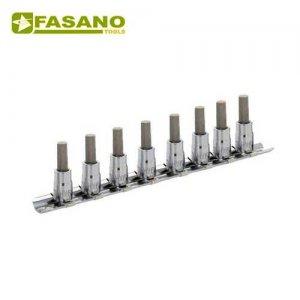 """Σετ καρυδάκια άλλεν 1/4"""" σε ράγα 2,5-10mm 8 τεμαχίων FG 147H/S8 FASANO Tools Κασετίνες Καρυδάκια"""